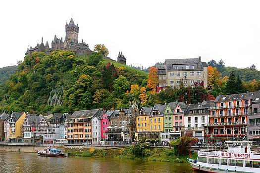 Cochem on the Moselle by Gisela Scheffbuch