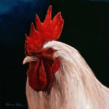 Kanayo Ede - COCK. Bird painting