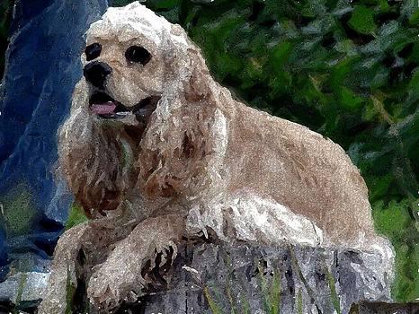 Cocker Spaniel Blonde Portrait  by Olde Time  Mercantile
