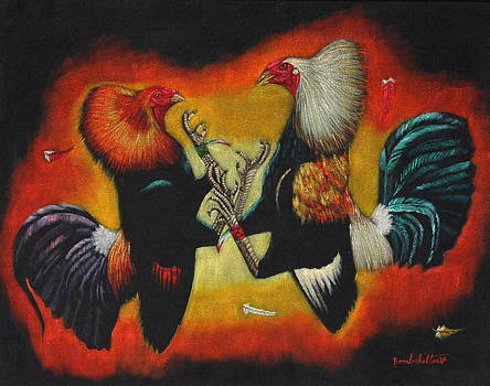 Cockfight by Diane Bombshelter