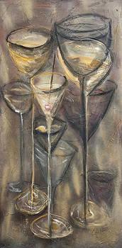 Nine glasses by Chuck Gebhardt