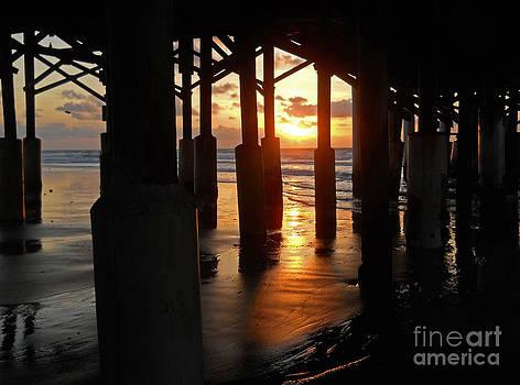 Cocoa Beach Pier at Dawn by Virginia Zuelsdorf