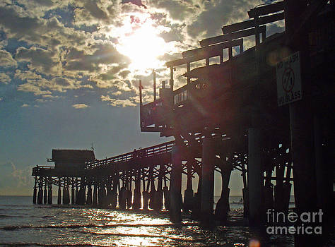 Cocoa Beach Pier Early in the Morning by Virginia Zuelsdorf