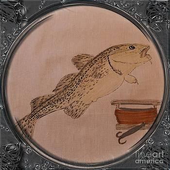 Barbara Griffin - Cod Fish and Jigger - Porthole Vignette
