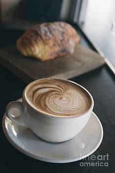 Coffee And Chocolate Croissant by Gillian Vann