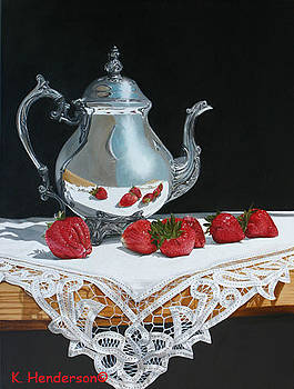 Coffee and Strawberries by K Henderson by K Henderson