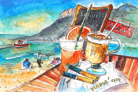 Miki De Goodaboom - Coffee Break in Stavros in Crete