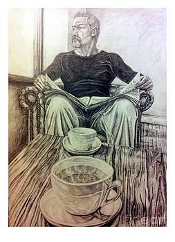 R Muirhead Art - Coffee Break