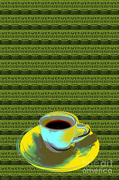 Coffee cup Pop Art by Jean luc Comperat