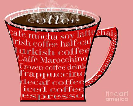 Andee Design - Coffee Mug Red Typography