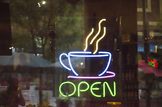 Coffee Shop Open Sign by Wesley Corn