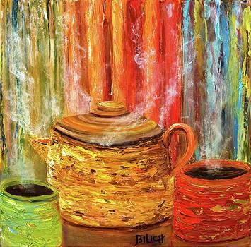 Coffee Trio by Trish Bilich