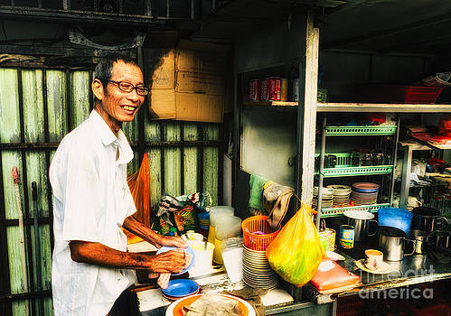 David Hill - Coffee Vendor on South East Asian Street Stall