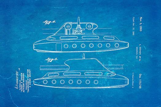 Ian Monk - Cohen Monorail Toy 3 Patent Art 1953 Blueprint