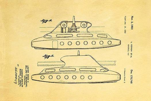 Ian Monk - Cohen Monorail Toy 3 Patent Art 1953