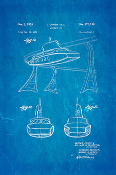Ian Monk - Cohen Monorail Toy Patent Art 1953 Blueprint