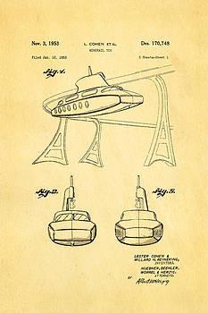 Ian Monk - Cohen Monorail Toy Patent Art 1953