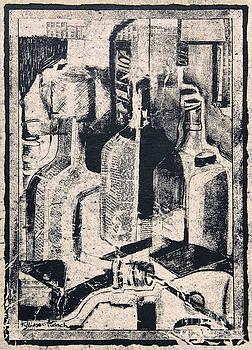 Cointreau - Still Life on Shoe Box Paper by Kerryn Madsen-Pietsch