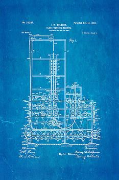 Ian Monk - Colburn Flat Glass Working Machine Patent Art 1902 Blueprint