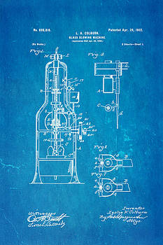 Ian Monk - Colburn Glass Blowing Machine Patent Art 1902 Blueprint