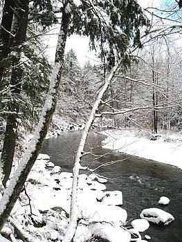 Cold River greeting card by Will Boutin Photos
