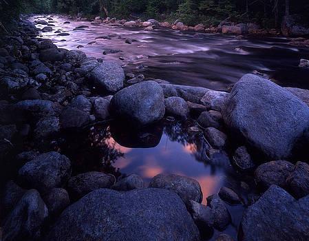 Cold River Sunset by Bob Grabowski