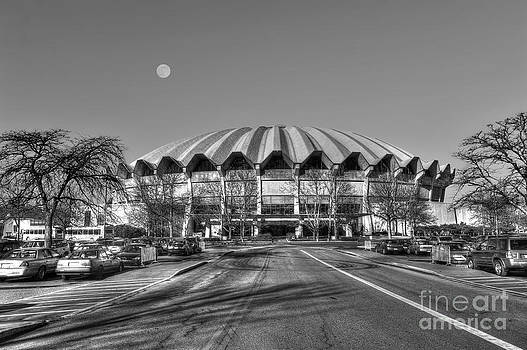 Dan Friend - Coliseum black and white with moon