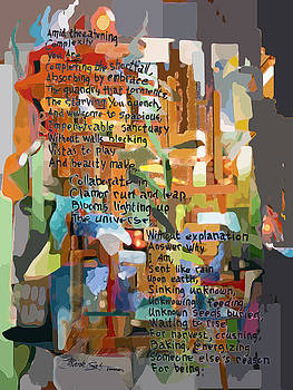 Collage Construct No. 2 with Poem by Mark Turner