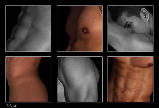 Collage of men  4 by Mark Ashkenazi