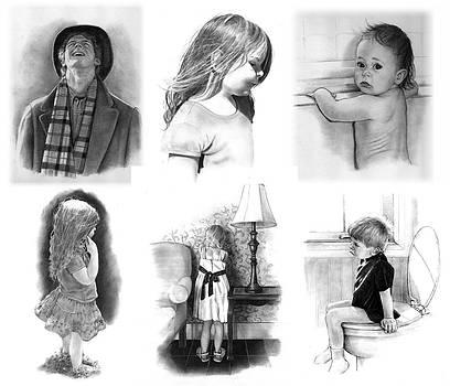 Joyce Geleynse - Collage of Pencil Portraits