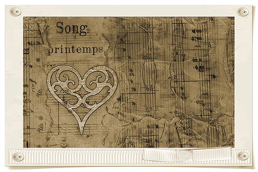 Sandra Foster - Collage Of Vintage Sheet Music - Beeswax