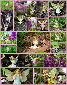 Linda Rae Cuthbertson - Collage of Woodland Fairies