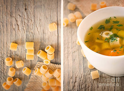 Mythja  Photography - Collage Vegetable soup with pasta