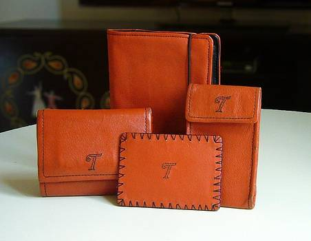 Collection of leather products by Tahir Tahirov