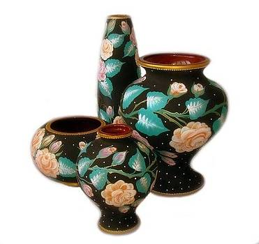 Collection Of Vases Floral  by Alexsandr Lovchikov