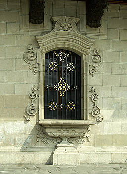 Colonial Window Archbishop's Palace of Lima. by Luis Fernando Del Aguila Mejia