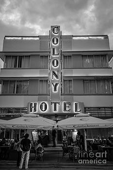 Ian Monk - Colony Hotel Art Deco District SOBE Miami Florida - Black and White