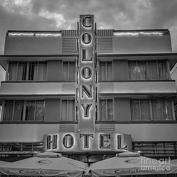 Ian Monk - Colony Hotel - SOBE Miami Florida - Black and White - Square