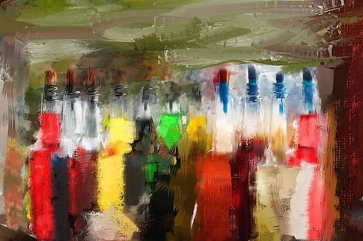 Color full bottles by Saibal Ghosh