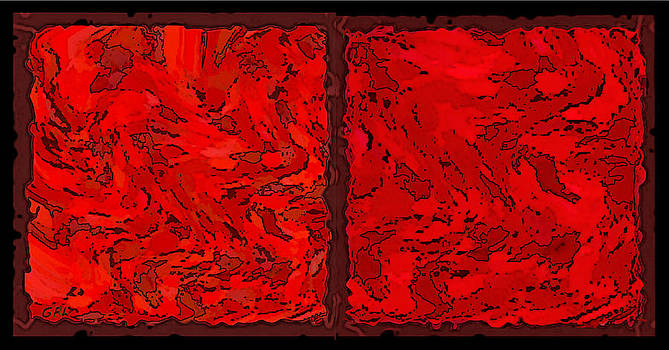 G Linsenmayer - COLOR OF RED VI CONTEMPORARY DIGITAL ART