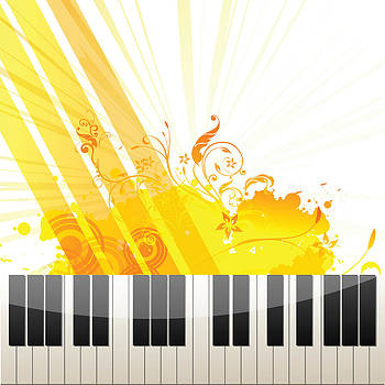 Color Splash Piano by Anne Marie Baugh