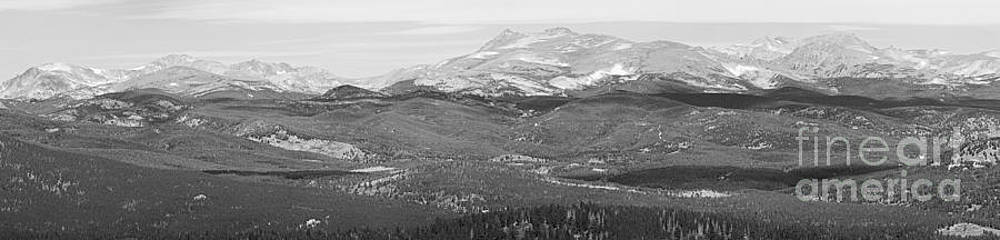 James BO  Insogna - Colorado Continental Divide Panorama HDR BW