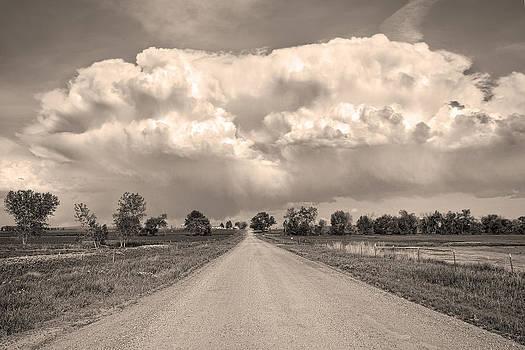 James BO  Insogna - Colorado Country Road Stormin Sepia  Skies
