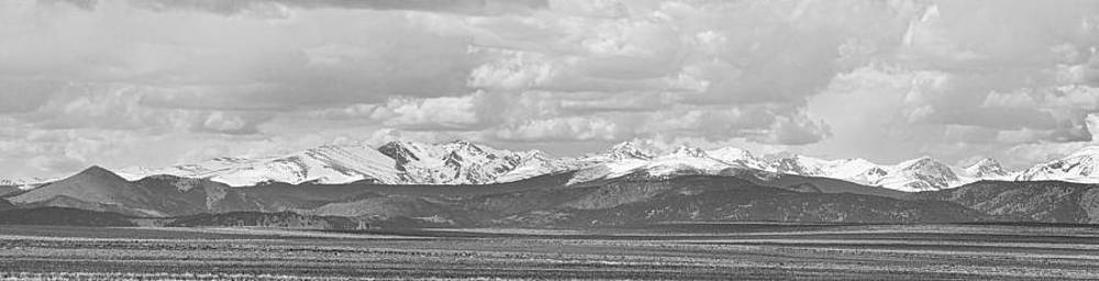 James BO  Insogna - Colorado Front Range Rocky Mountain Agriculture Panorama BW