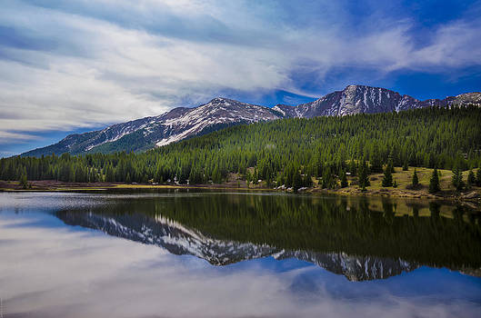 Colorado Mountain Reflection by Debbie Karnes