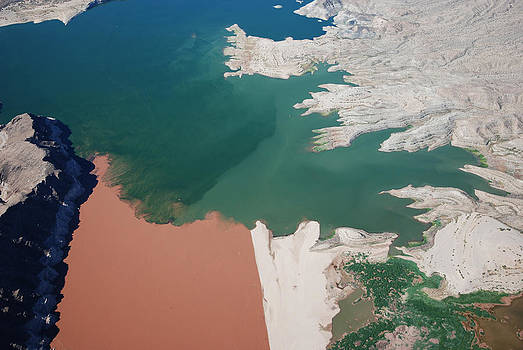 Colorado River meets Lake Mead by Mike Thompson