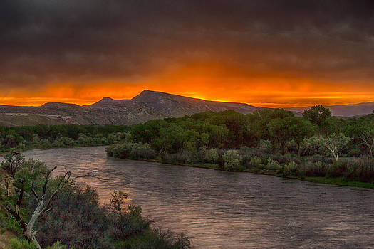 Colorado River Sunset by Dawn Morrow
