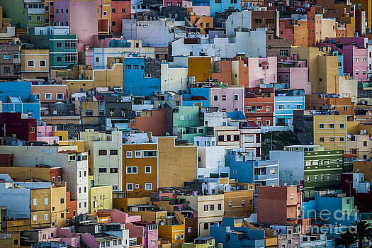 Colored Houses San Juan Las Palmas Spain by Pablo Avanzini