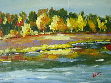 Colored River by Joe Byrd