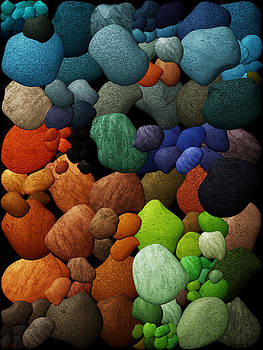Colored Rocks and Pebbles by CJ Grant